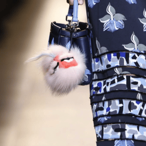 Fendi Blue Floral Peekaboo Micro Bag - Spring 2015