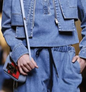 Fendi Light Blue/Red Shoulder Bag - Spring 2015