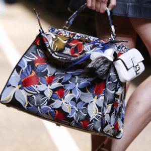 Fendi Multicolor Floral Printed Peekaboo Bag - Spring 2015