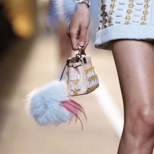 Fendi Pink Embellished Peekaboo Micro Bag - Spring 2015