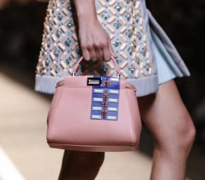Fendi Pink Embellished Peekaboo Mini Bag - Spring 2015