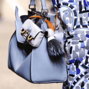 Fendi Sky Blue Peekaboo Bag with Python Baguette Micro Bag - Spring 2015