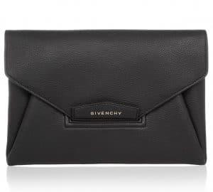 Givenchy Black Antigona Envelope Clutch Bag