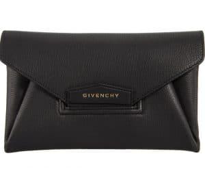 Givenchy Black Antigona Envelope Small Clutch Bag