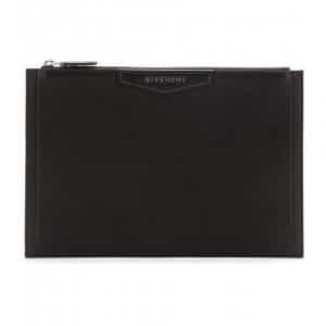 Givenchy Black Antigona Zipped Clutch Bag