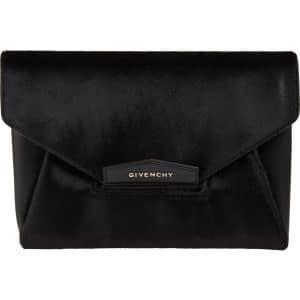 Givenchy Black Haircalf Antigona Envelope Clutch Bag