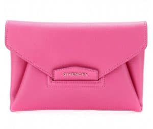Givenchy Fuchsia Antigona Envelope Small Clutch Bag