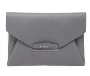 Givenchy Dark Gray Antigona Envelope Clutch Bag