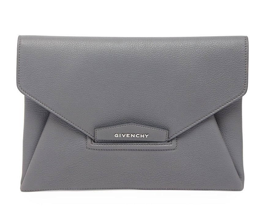 119dcb468006 Givenchy Dark Gray Antigona Envelope Clutch Bag
