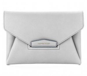 Givenchy Grey Antigona Envelope Clutch Bag