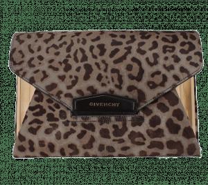Givenchy Leopard Antigona Envelope Clutch Bag