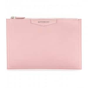 Givenchy Light Pink Antigona Zipped Clutch Bag