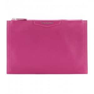 Givenchy Magenta Antigona Zipped Clutch Bag