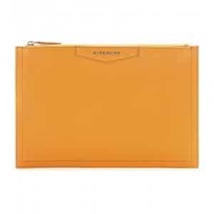 Givenchy Mustard Antigona Zipped Clutch Bag