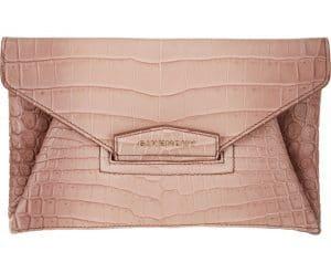 Givenchy Old Pink Crocodile Antigona Envelope Clutch Bag