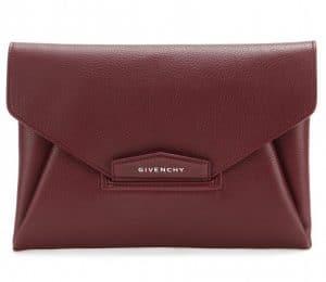 Givenchy Oxblood Red Antigona Clutch Bag