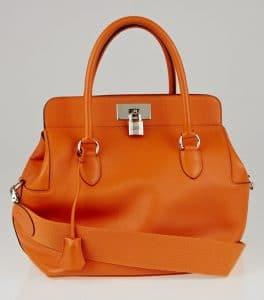 Hermes Orange Toolbox 26cm Bag
