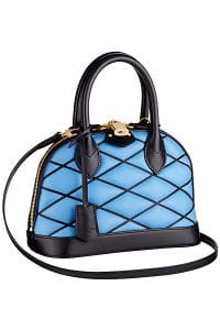 Louis Vuitton Blue Alma Malletage BB Bag - Cruise 2015