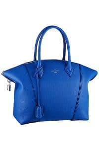 Louis Vuitton Blue Soft Lockit Bag - Cruise 2015