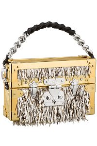 Louis Vuitton Gold Fringe Petite Malle Bag -Cruise 2015