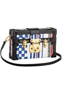 Louis Vuitton Grand Prix Cuir Embosse Petite Malle Bag - Cruise 2015