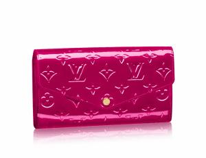 Louis Vuitton Indian Rose Monogram Vernis Sarah Wallet