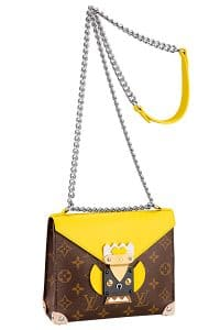 Louis Vuitton Jaune Pochette Mask Bag - Cruise 2015