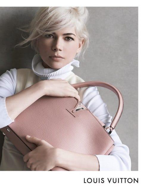 6b89436514 Michelle Williams in Fall / Winter 2014 Louis Vuitton Capucines Ad ...