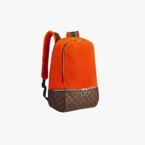 Louis Vuitton Orange Fleece Pack by Marc Newson