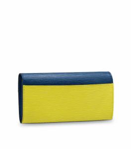 Louis Vuitton Pistache Epi Sarah Wallet NM3 Back Side