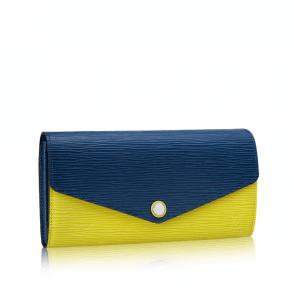 Louis Vuitton Pistache Epi Sarah Wallet NM3 Front Side