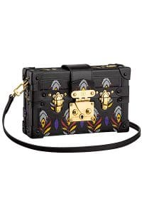 Louis Vuitton Plume Cuir Embosse Petite Malle Bag - Cruise 2015