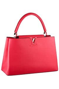 Louis Vuitton Red Capucines Tote Bag - Cruise 2015