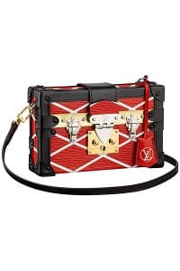 Louis Vuitton Red Epi Malletage Petite Malle Bag - Cruise 2015