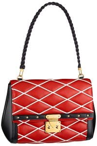 Louis Vuitton Red Pochette Flap Bag - Cruise 2015