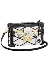 Louis Vuitton White Epi Malletage Petite Malle Bag - Cruise 2015