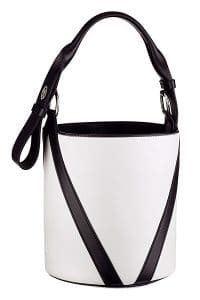 Louis Vuitton White/Black V Bucket Bag - Cruise 2015