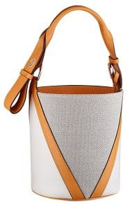 Louis Vuitton White/Gray V Bucket Bag - Cruise 2015