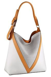 Louis Vuitton White/Gray V Hobo Bag - Cruise 2015