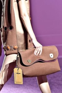 Marc Jacobs Brown Canvas Oversized Clutch Bag - Spring 2015