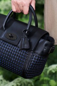 Mulberry Black/Blue Woven Bayswater Buckle Bag - Spring 2015