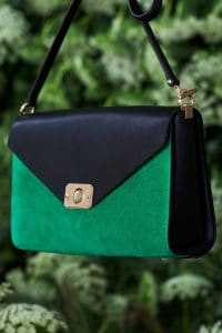 Mulberry Black/Green Suede Delphie Duo Bag - Spring 2015