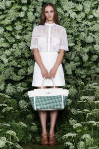 Mulberry White/Blue/Green Woven Bayswater Buckle Bag 2 - Spring 2015