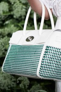 Mulberry White/Blue/Green Woven Bayswater Buckle Bag - Spring 2015