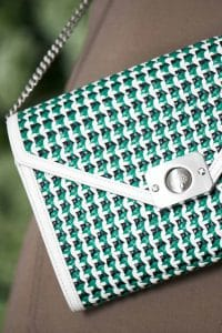 Mulberry White/Blue/Green Woven Delphie Duo Bag - Spring 2015