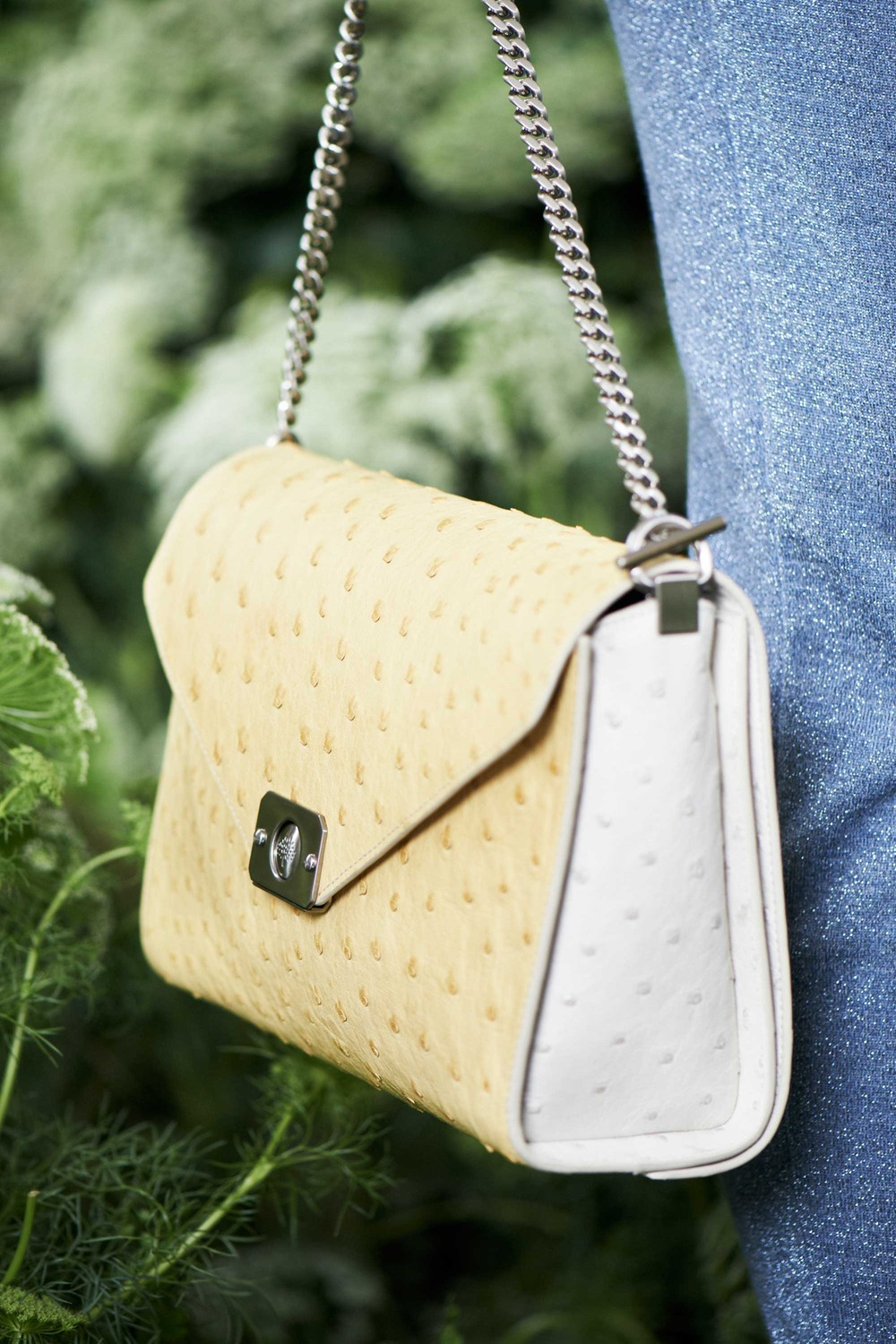 809f00584bd1 Mulberry Yellow Cream Python Delphie Duo Bag - Spring 2015
