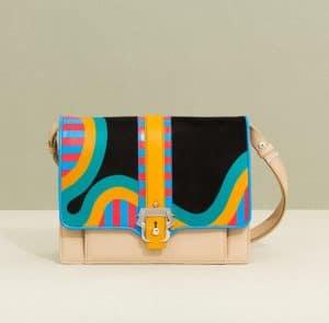 Paula Cademartori Neon Blue and Yellow Caroline Shoulder Bag - Fall 2014