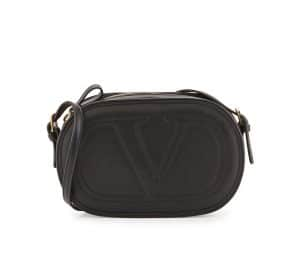 Valentino Black Logo Go Bag
