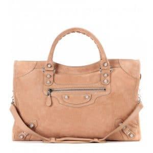 Balenciaga Vieux Rose Suede Giant 12 City Bag