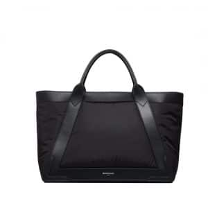 Balenciaga Black Navy Nylon Cabas M Bag